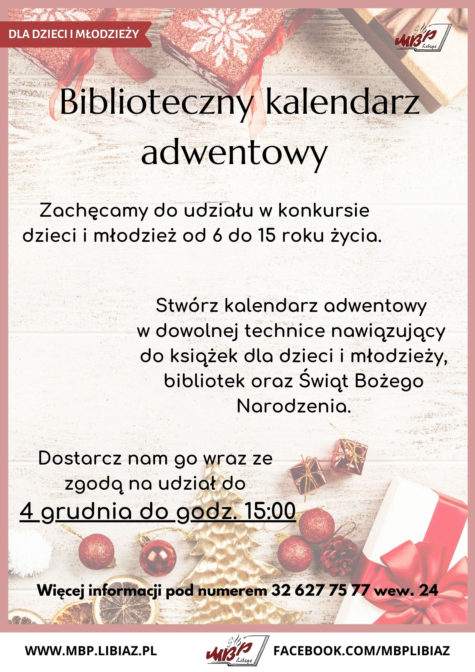 """Konkurs """"Biblioteczny kalendarz adwentowy"""""""