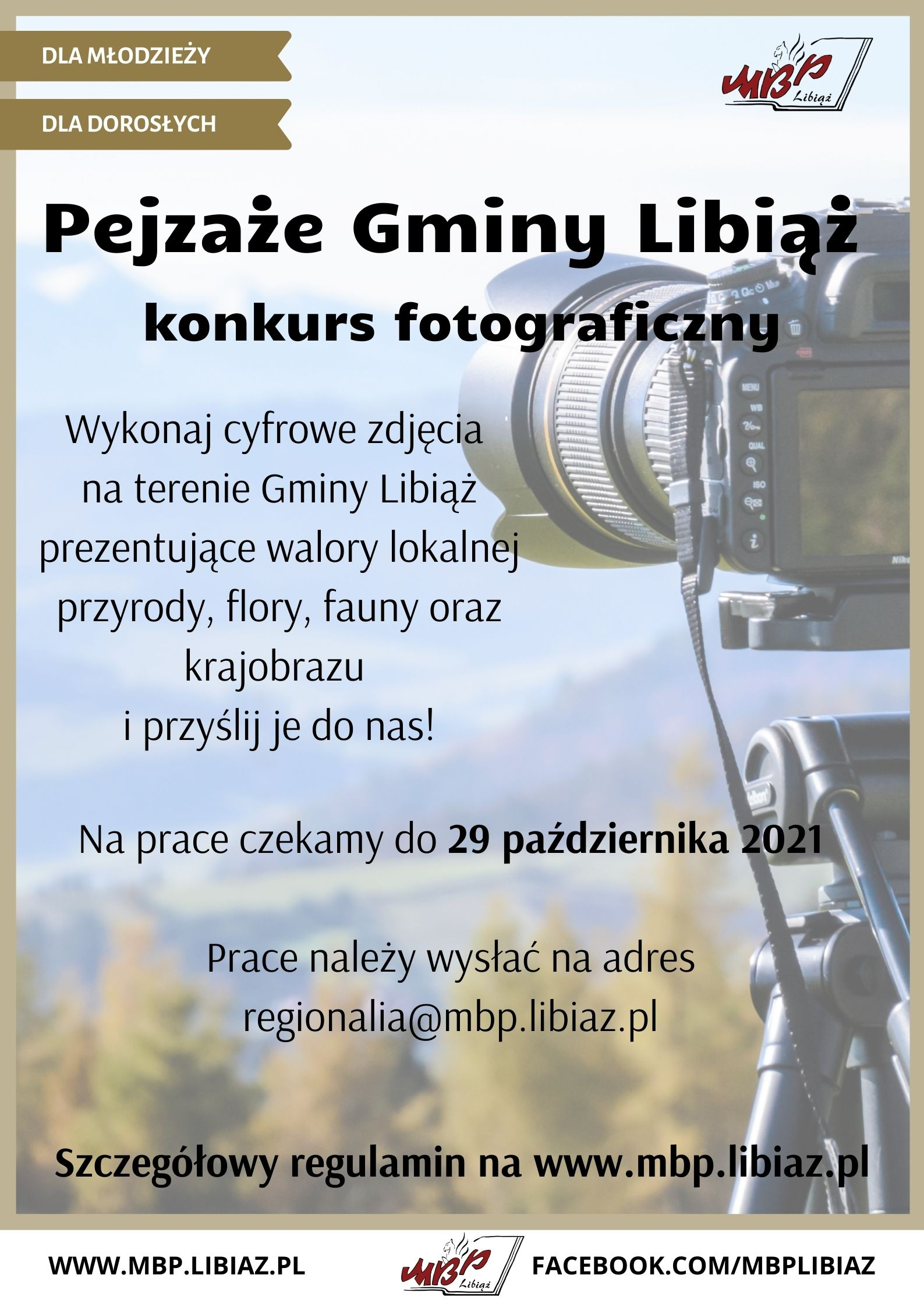 """Konkurs Fotograficzny """"Pejzaże Gminy Libiąż"""""""